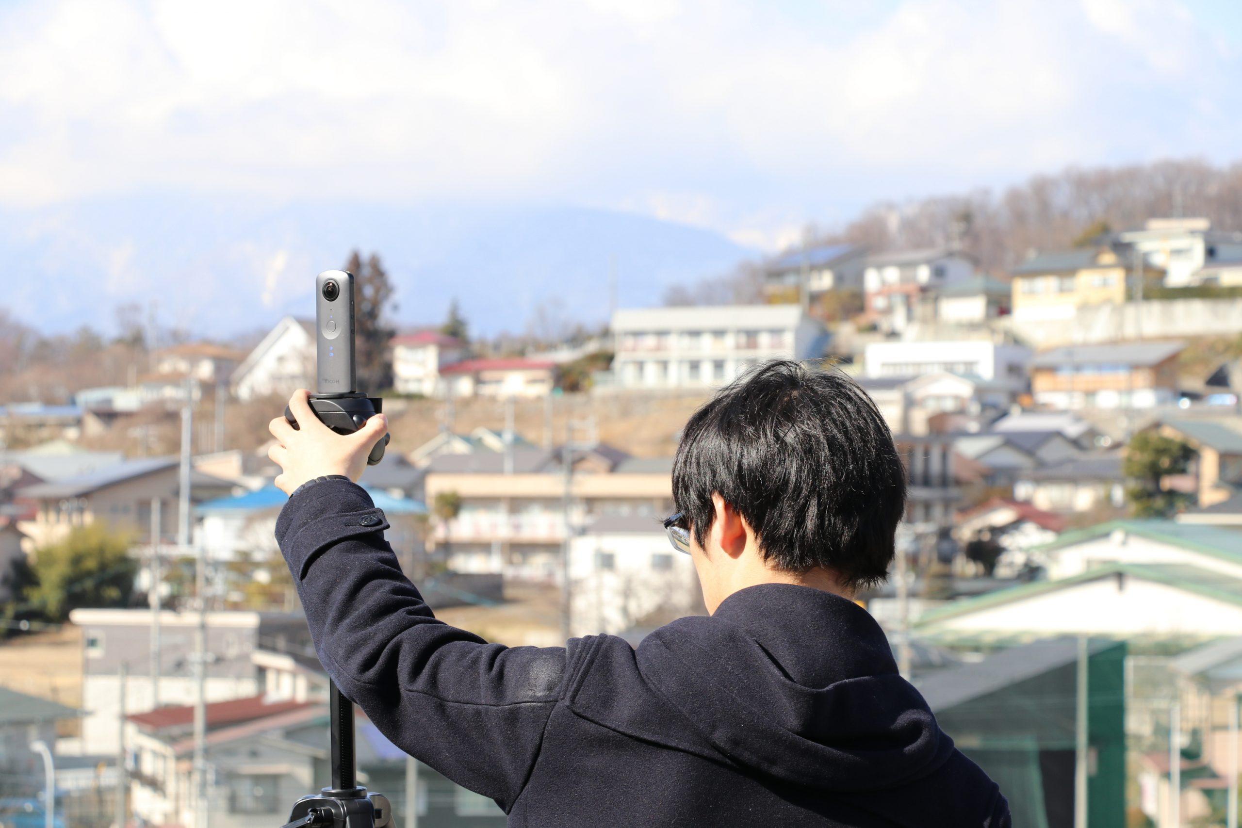 屋上の撮影
