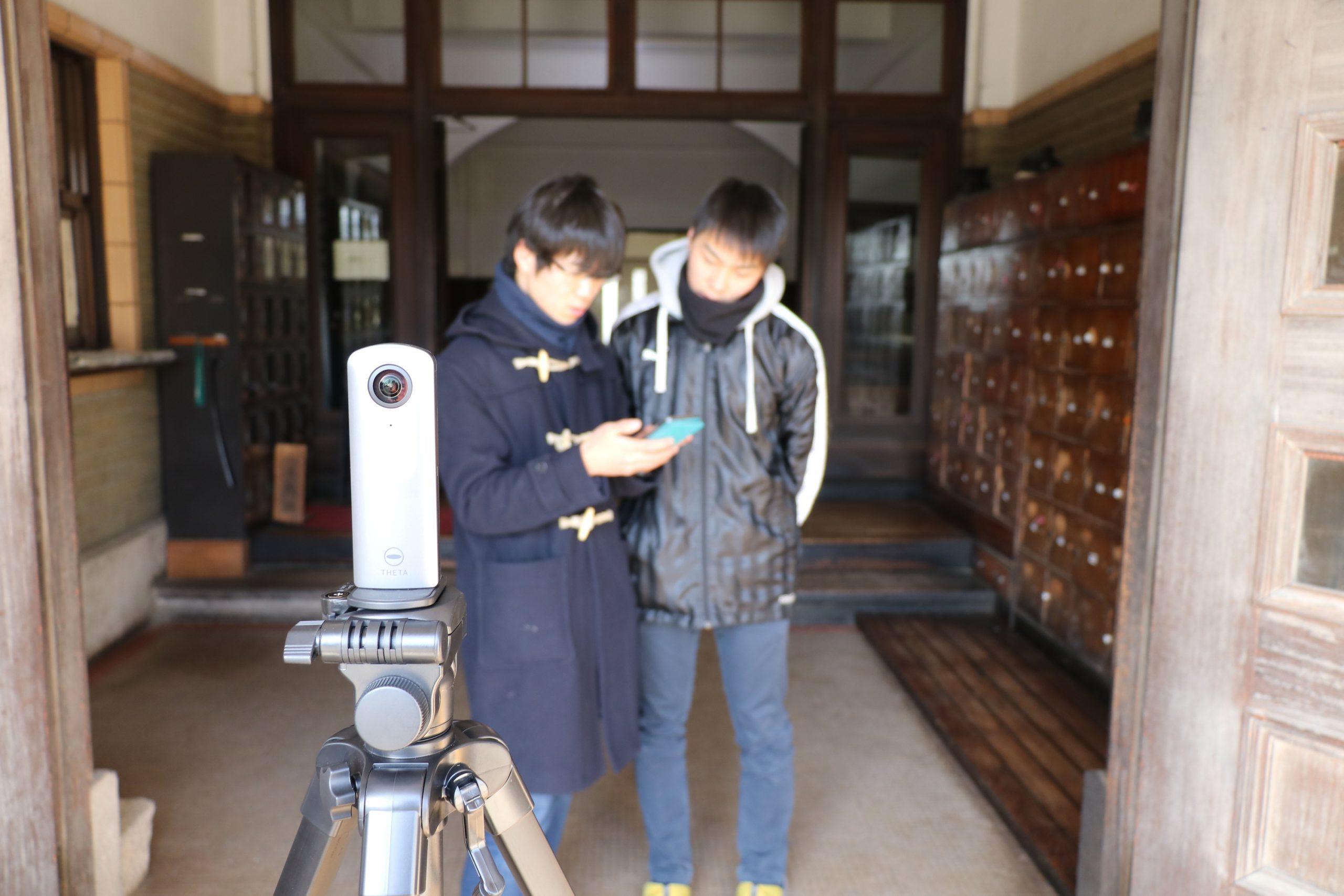 玄関の撮影